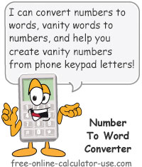 Calcy sign introducing Number to Word Converter
