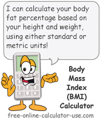 Calcy sign introducing Online BMI Calculator