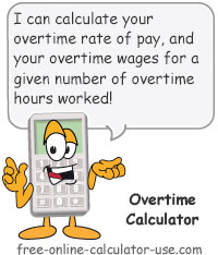 Calcy sign introducing Overtime Calculator