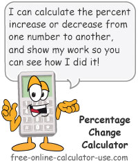 Calcy sign introducing Percentage Change Calculator