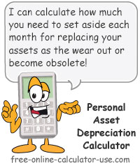 personal asset depreciation calculator