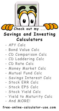 Calcy sign listing Personal Finance Calculators