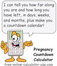 Calcy sign introducing Pregnancy Countdown Calculator