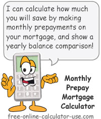 Calcy sign introducing Prepay Mortgage Calculator