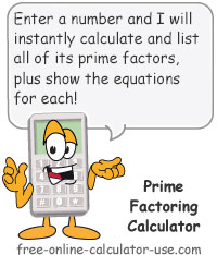 Prime Factoring Calculator Sign