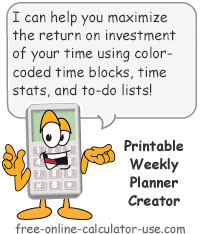 Printable Weekly Planner Sign