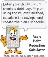 Calcy sign introducing Rapid Debt Reduction Calculator