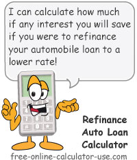 refinance auto loan calculator