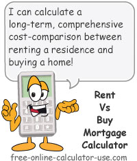 Calcy sign introducing Rent Vs Buy Mortgage Calculator
