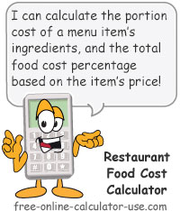 Restaurant Food Cost Calculator Sign