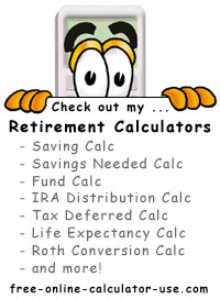 Calcy sign introducing Retirement Planning Calculators
