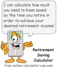 Retirement Saving Calculator Sign