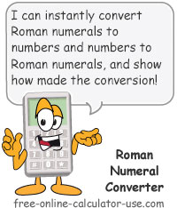 Calcy sign introducing Roman Numeral Converter