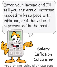 Salary Inflation Calculator Sign