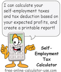 Self-Employment Tax Calculator Sign