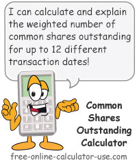 Stock Shares Outstanding Calculator Sign
