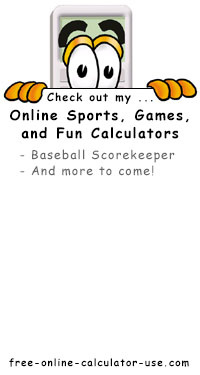Calcy sign listing Free Online Sports, Games, and Fun Calculators