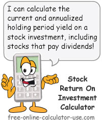 Calcy sign introducing Stock Calculator