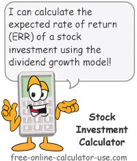 Calcy sign introducing Stock Investment Calculator
