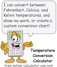 Calcy sign introducing Temperature Conversion Calculator