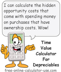 Calcy sign introducing Time Value Money Calculator