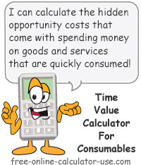 Calcy sign introducing Time Value of Money Calculator