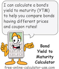 Calcy sign introducing Bond Yield to Maturity Calculator